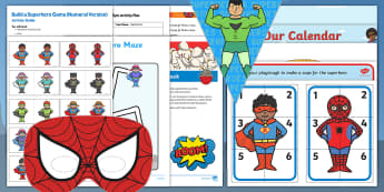 Childminder Superheroes EYFS Resource Pack - Superheroes, superhero, super hero, child minder, childminding, superman, batman, spiderman,Australi