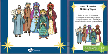 First Christmas Nativity Rhyme - first christmas, nativity, rhyme, christmas