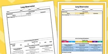 EYFS Long Observation Sheet - planning, EYFS assessment