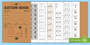Ration Book Booklet - Wartime Recipe Booklet - wartime, recipe, booklet, food, rations, receipe, Time