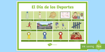 Sports Day Word Grid-Spanish - Spanish, KS2,sports, day, grid, word,Spanish