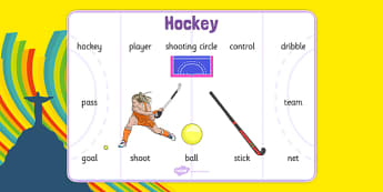 The Olympics Hockey Word Mat - the olympics, rio 2016, 2016 olympics, rio olympics, hockey, word mat