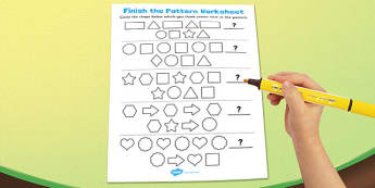 Visual Perception Pattern Worksheet - pattern, worksheet, visual