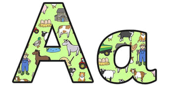 Farm Themed Display Lettering (Small) - farm themed display lettering, farm display lettering, farm lettering, on the farm, small farm display lettering