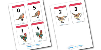 Number Bonds to 5 Matching Cards (Animals) - Number Bonds, Matching Cards, Food Cards, Number Bonds to 5