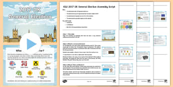 KS2 General Election 2017 Assembly PowerPoint -  uk, UK general election, uk general election, uk 2017 general election, UK 2017 general election, U