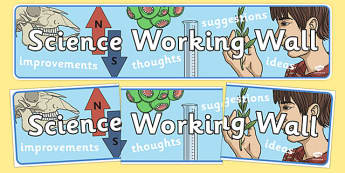 Science Working Wall Display Banner - science, working wall