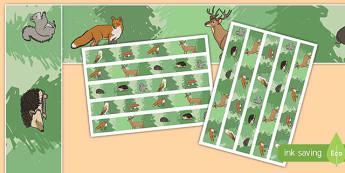 Woodland Creature Animal Display Borders