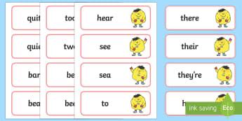 PlanIt English Year 2 Term 3B Spelling Word Cards - Spellings Year 2, Term 3B, word cards, literacy, english, writing, spelling, y2, ks1