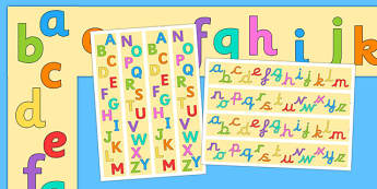 Alphabet A3 Display Borders Pack - alphabet, a3, display, borders