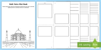 KS2 Rath Yatra Mini Book Activity Sheet - Hindu, celebration, hinduism, mini book, gods, worksheet