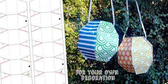 Chinese New Year Blank Paper Lantern Craft Activity - australia
