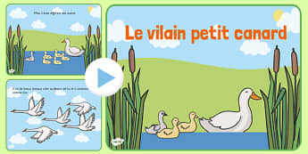 Le vilain petit canard Story PowerPoint French - french, ugly duckling, story, powerpoint