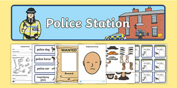 Police Station Role Play Pack - Police Station Role Play, police, policeman, police station resources, policewoman, police car, police van, handcuffs, criminal, people who help us, role play, display, poster, Role Play Pack - role play, people who he