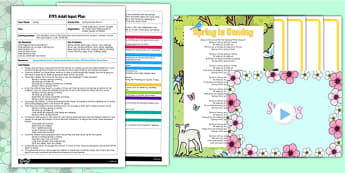 Spring Animals Rhyme EYFS Adult Input Plan and Resource Pack - EYFS, Early Years planning, adult led, spring, C&L, Communication and Language, rhyme, song