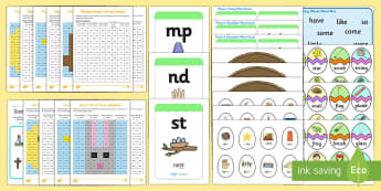 Easter Themed Phase 4 Phonics Resource Pack - letters and sounds, phonics, phase 4, easter