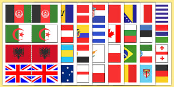 Olympic Flags of the World Sandcastle Flags