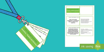 Lanyard Sized Year Two Geometry Position and Direction Objectives Cards - KS1, maths, numeracy, year 2, year two, geometry, position and direction, objectives, National Curri