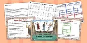Roman Gods Card Game Task Setter Flipchart - roman, gods, game