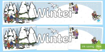 Winter Banner für die Klassenraumgestaltung - Winter Banner für die Klassenraumgestaltung, Winter Banner, Winter Klassenraumgestaltung, Winter, J