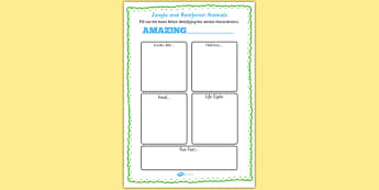 Jungle and Rainforest Animals Information Writing Frame - writing