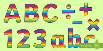Stripey Rainbow-Themed Display Lettering - Stripey Rainbow Display Lettering - lettering, letters, display , letering, displaylettering, displa