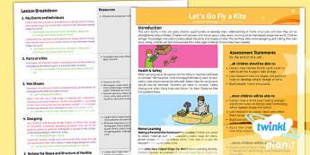 PlanIt - DT LKS2 - Let's Go Fly a Kite Planning Overview - planit, dt, unit