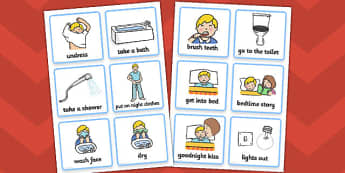 Visual Timetable (Getting Ready For Bed - Boys) - getting ready for bed, bed, bedtime, Visual Timetable, SEN, Daily Timetable, School Day, Daily Activities, Daily Routine KS1, good night, bedtime story, brush teeth, boys