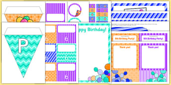 6th Birthday Party Pack - 6th birthday party, 6th birthday, birthday party, pack