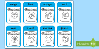 Jam Jar Colouring Sheet French - couleurs, colors, jam jar, pots de confiture, colouring, colour
