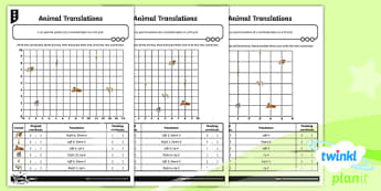 PlanIt Y5 Position and Direction Home Learning Tasks - Position and Direction, coordinates, translation, geometry, maths