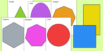 Formes en 2D à découper - Formes, 2D, planes, découper