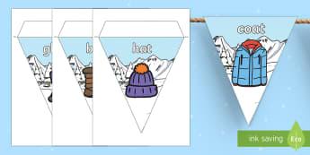 Winter Clothing Display Bunting