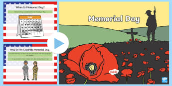 Memorial Day PowerPoint - Memorial Day, Veterans, May, Holiday, soldiers