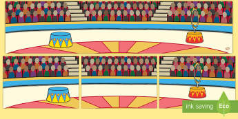 Circus Smal-World Background - EYFS Circus, big top, clowns, ringmaster, acrobats, juggler, acrobat, performers, big top, tent, are
