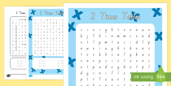 Multiplication 2 Times Tables Word Search Activity Sheet - New Zealand, maths, 2 times tables, multiplication, Years 1-3, skip counting, word search, maths voc