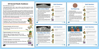 60-Second Reads: Space Activity Cards - 90 words a minute, ninety words, reading, guidance, year 2, Y2, one minute reading, one minute reade