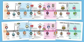 KS1 Recent History Information Timeline - history, timeline, ks1