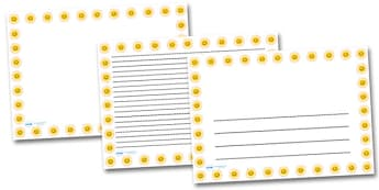 Smiley Sun Landscape Page Borders- Landscape Page Borders - Page border, border, writing template, writing aid, writing frame, a4 border, template, templates, landscape