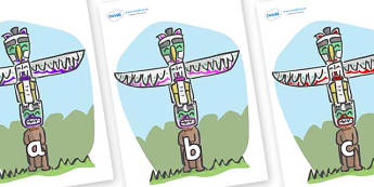 Phase 2 Phonemes on Totem Poles - Phonemes, phoneme, Phase 2, Phase two, Foundation, Literacy, Letters and Sounds, DfES, display