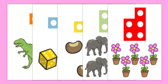 Counting Shapes 1 to 20 Cut Outs - numbers, number, counting