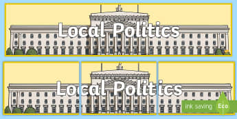 Local Politics Display Banner - NI Politics, Government, Assembly, local, Election