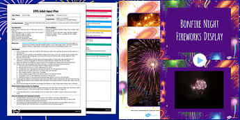 Fireworks Pictures EYFS Adult Input Plan and Resource Pack