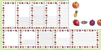 Fruit Page Border - olivers fruit salad, fruit salad, page borders, pack