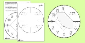 Interactive Simple Clock Visual Aid - interactive, simple, clock, visual aid, time, telling the time, reading a clock