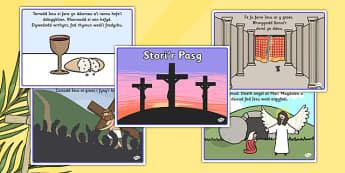 Stori'r Pasg - welsh, cymraeg, Stori, Pasg, Iesu, easter story, easter, story