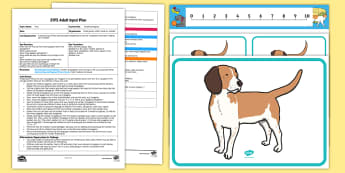 EYFS Counting Puppies Adult Input Plan and Resource Pack - EYFS Pets, Animals, National Pet Month, pets, puppies, dogs, counting, addition, altogether, maths,