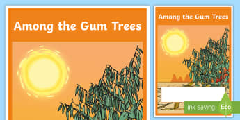 Among the Gum Trees Year 4 Biological Sciences Editable Book Cover - Science, primary connections, biology, grade 4, year 4, science journal, cover page, front cover, ti