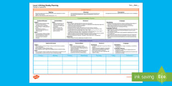 New Zealand Level 4 Writing Weekly Plan - Literacy, Level 4, Writing, Weekly Plan