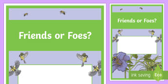 Friends or Foes? Year 4 Biological Sciences Editable Book Cover - primary connections, Grade 4, Australian Curriculum biological science, science journal, science fro